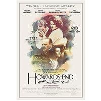 Howards End(1992)-アンソニーホプキンス主演映画ポスターキャンバスプリントウォールアートデコレーション画像モダンルームデコレーション-50x70cmフレームなし