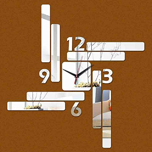 JPDP Nieuwe Verkoop Horloge Muur Hot 3D Home Decor Woonkamer Modern Design Spiegel Art Klokken Mode Sticker Kluis, Zwart