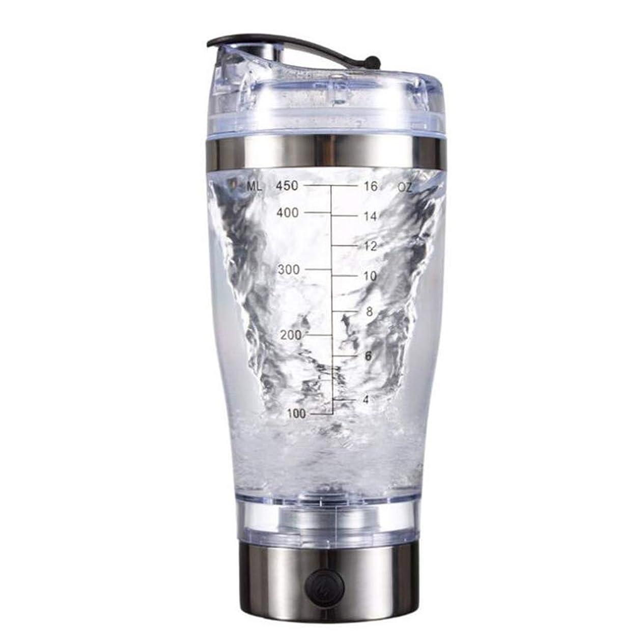 廃止する違反ドアAlioay 電動シェーカー プロテインシェーカー プロテインミキサー シェーカーボトル ミキサー 電池式 450ml 多機能 コーヒーミキサー 自動 電池式 栄養補給 健康素材 漏れ防止