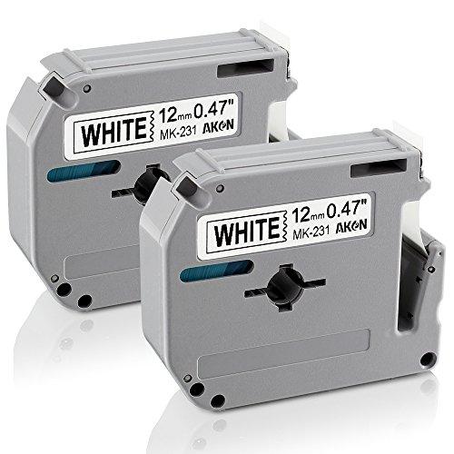 3x Schriftband 9mm für Brother P-Touch PT 55 60 65 75 80 85 90 110 M-K221 MK221