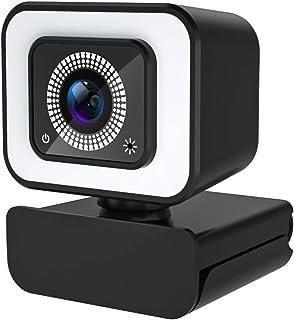 Web Cam 1080p Full HD Webcam avec Microphone pour PC,avec Lumière LED,2.0Usb Plug & Play Idéal pour Les Appels Vidéo Et L'...
