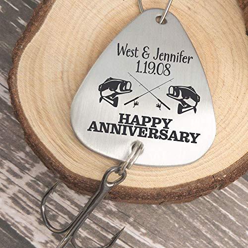 Anniversary Gift Anniversary Fishing Lure Personalized Anniversary Gift For Husband Men's Gift Personalized Fishing Lure Anniversary Date ANNIVER-LURE