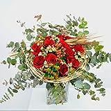 Ramo de rosas Cardona - Flores RECIÉN CORTADAS y NATURALES de Gran Tamaño - ENTREGA EN 24h con Dedicatoria Personalizable Gratuita - RAMO DE ROSAS PARA DEDICAR