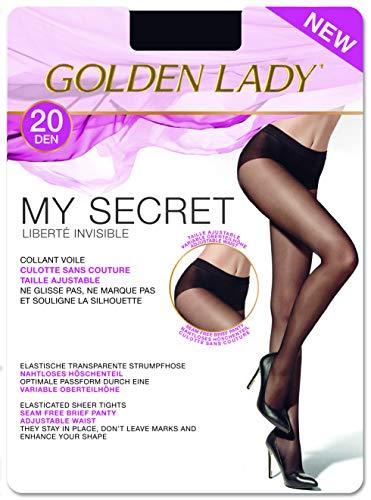 GOLDEN LADY Mysecret 20 Collant, 20 DEN, Nero (Nero 099A), X-Large (Taglia produttore:5–XL) Donna