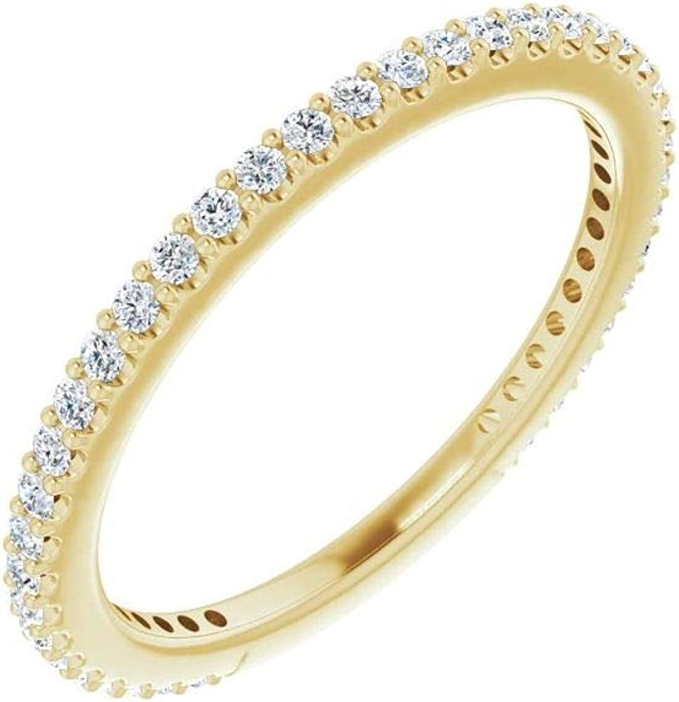 1/3 Cttw Diamond Stackable Wedding Anniversary Ring Band (.33 Cttw)