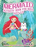 Mermaid Activity Book For Kids Ages 7-9   Coloring & Drawing, Word Search, Mazes, Sudokus: A Mind Developing Workbook Cover Designed With Dreamy ... For All Kids, Boys & Girls Of Preschool & KG