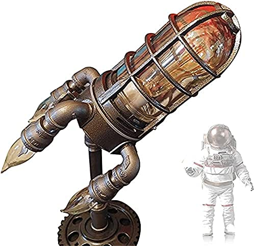yinhegou Lámpara de Cohete Steampunk, lámpara de Cohete Retro, Tubos Retro de Agua Industrial, lámpara de Barco de Cohete Steampunk, niños Padre