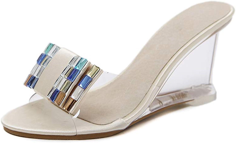 Women Slippers High Heels shoes Women Wedges Sandals shoes Summer
