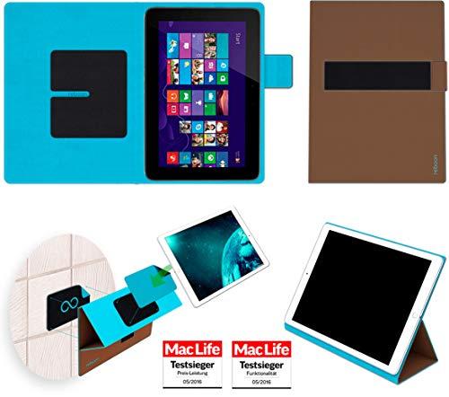 Hülle für HP Omni 10 Tasche Cover Hülle Bumper | in Braun | Testsieger