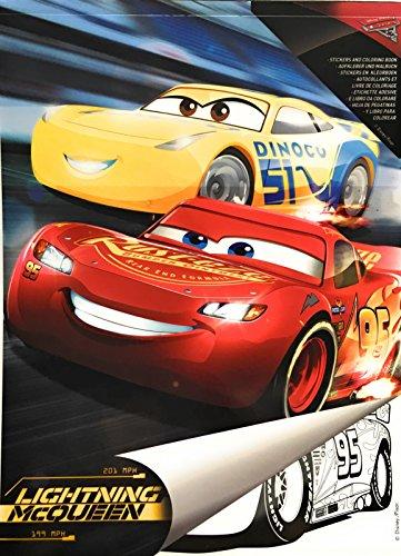 """Malblock & Sticker Din A 4 mit Disney Pixar """"Cars - Lightning McQueen"""" - Malbuch mit Aufkleber"""