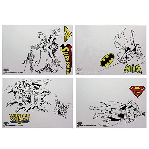 DC Comics Gadget Decalcomanie autoadesivi Impermeabili riutilizzabili, Vinile, 1x 15x 21cm