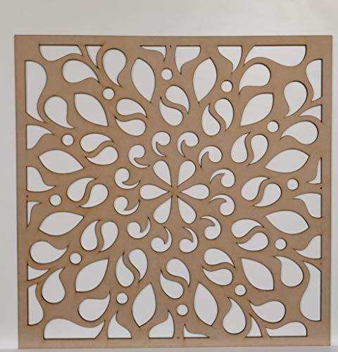 LaserKris 262-8 Heizkörperschrank, dekorativ, perforierte MDF-Platte, 600 x 600 mm