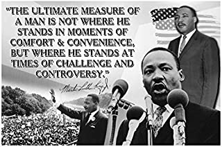 Classroom Posters Black History Month Posters Dr Martin Luther King Jr Poster MLK Day Classroom Inspritational Posters Growth Mindset Teacher Decorations African American Art Black Art Wall P008
