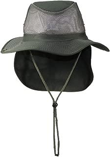 Tropic Hats Packable Wide Brim Mesh Safari/Outback W/Neck Flap & Snap up Sides