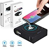 Wireless Portable Charger, CVIDA 10000mAh 10W Fast Qi Wireless Power Bank with 3 Outputs &...