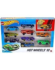 Hot Wheels Basic Cars, 10 Hot Wheels Car in 1 Pack 54886
