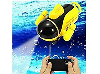 Underwater Drone Mini RC HD Underwater Camera Drone with FPV (Yellow)