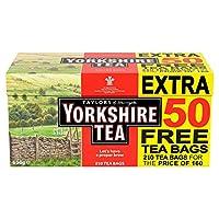 ヨークシャーティーオリジナルレッドラベル210ティーバッグ656g –適切な朝のための適切な醸造、あなたの崇高な欲望のための100%高品質のお茶。 Art of Blending – 130歳。