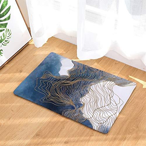 XingXiang Mode-Aquarell-Anlage Fußmatte Badezimmer-saugfähige rutschfeste Matte Schlafzimmer Dekorative Teppich für geeignetes Wohn- und Schlafzimmer (Color : D2891-14, Size : 50 * 80CM)