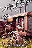 Carnet de notes tracteur ancien: journal ligné pour passionnés, collectionneur de vieux tracteurs, retro, vintage, de collection   100 pages format 6'x9'