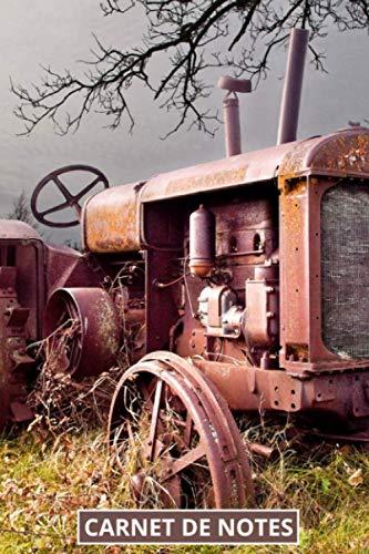 Carnet de notes tracteur ancien: journal ligné pour passionnés, collectionneur de vieux tracteurs,...