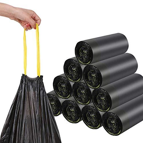Müllsäcke 120L Schwarz - MIT ZUGBAND - XXL Mülltüten (50 bis 1000 Säcke wählbar) (50)