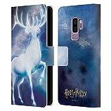 Head Case Designs Officiel Harry Potter Stag Patronus Prisoner of Azkaban II Coque en Cuir à Portefeuille Compatible avec Samsung Galaxy S9+ / S9 Plus