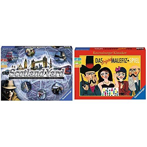Ravensburger Scotland Yard, Brettspiel, Gesellschafts- und Familienspiel, für Kinder und Erwachsene, Spiel des Jahres, für 2-6 Spieler, ab 8 Jahre & Spiele 26737 - Das Original Malefiz®-Spiel