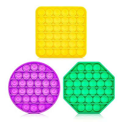 Uccia Push Pop Bubble Fidget Toy - Silicone Sensory Compression & Stress Relief Gadgets for Kids, Teens, Adults, Elderly People - Special Needs Toys - Washable, Reusable, Durable & Portable Design by Uccia Pty Ltd