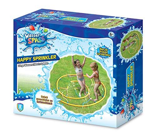 Xtrem Toys 00326 Waterplezier Happy Sprinkler, sprankelend speelplezier voor kinderen vanaf 6 jaar, ideaal voor de tuin, in de zomer, gewoon op de tuinslang aansluiten