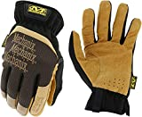 Mechanix Wear: DuraHide FastFit Leather Work Gloves (Large, Brown/Black), Model Number: LFF-75-010