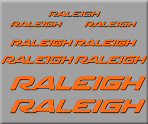 Ecoshirt 1S-VP7X-BESM Aufkleber Raleigh R222 Vinyl Aufkleber Decal Sticker Decal Decal Sticker MTB Bike Orange