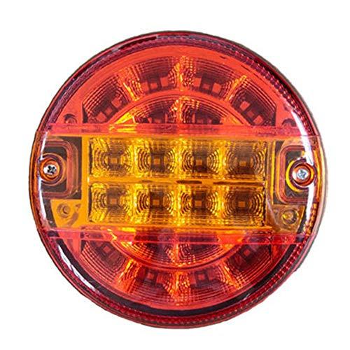 Faro trasero de 20 ledes laterales, luces de gálibo para remolque, furgoneta, caravana, camión