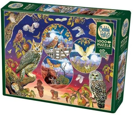 Cobble Hill 1000 Piece Puzzle - Owl Magic - Sample Poster Includ