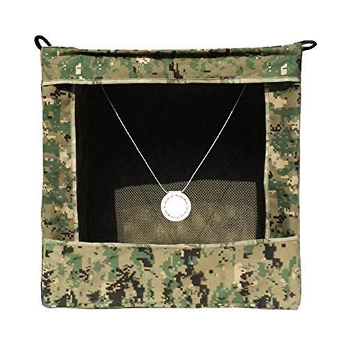 3Z Faltbare Slingshot Target Recycle Box für Bogenschießen Hanging Target Munition Case für Katapult, Jagd und Schießen, 40 x 40 x 40 cm, Camouflage