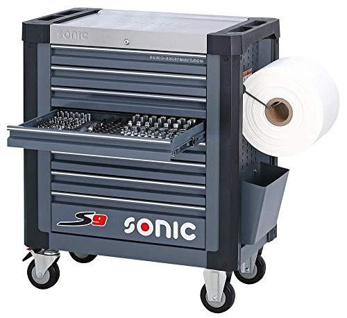 Sonic Equipment Werkstattwagen S9 gefüllt 527 Teile dunkelgrau