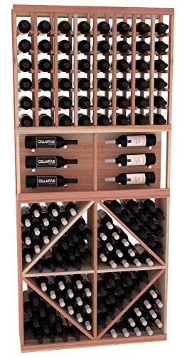 "CellarVue Redwood 35"" Top Showcase Wine Rack Display Combo Kit 2."