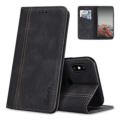 AKABEILA Hülle für Xiaomi Mi Mix 2S Handyhülle Leder Flip Hülle Ständer PU Brieftasche Schutzhülle Klapphülle Tasche Hülle mit [Kartenfach] [Standfunktion] [Magnetisch]