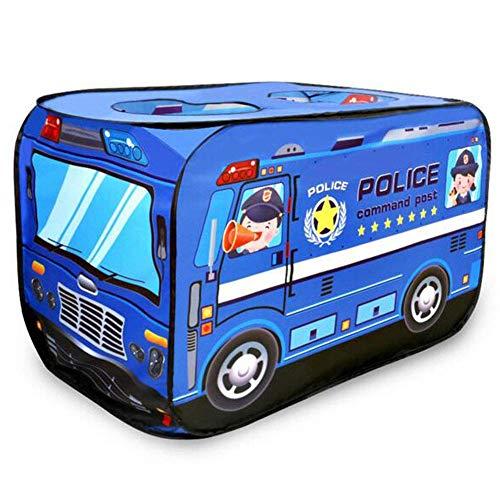 Mnjin Modedekoration Pop-up-Spielzelt für Kinder: Polizeiauto-Spielzelt, faltbares Pop-up-Zelt, Kinderspielhaus Indoor-Outdoor-Spielspielzeug Tolles Geschenk für Kinder, Spielzeugspielzelt/Spiel