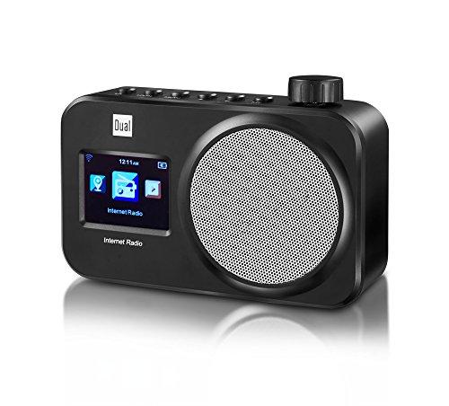 Dual IR 11 WiFi-Internetradio mit Farbdisplay (WiFi, UPnP-Audiostreaming, automatische Netzwerksuche, Weckfunktion, Netzbetrieb) Schwarz