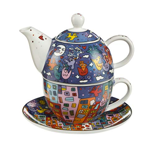 Goebel City Birds - Tea for One Pop Art James Rizzi Bunt New Bone China 26102361