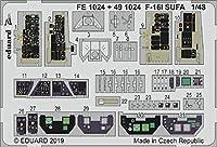 エデュアルド 1/48 F-16I スーファ 内装エッチングパーツ (ハセガワ用) プラモデル用パーツ EDU491024