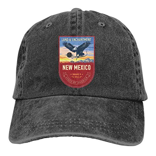 New Mexico - Gorra de béisbol ajustable, color negro