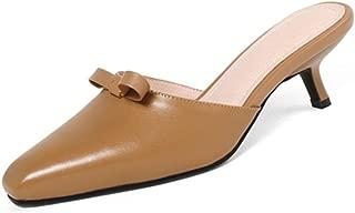 Nine Seven Women's Leather PointToe Heel Mule Pump
