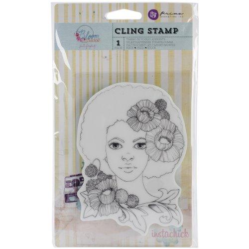 Prima Marketing Flores Cling Sellos de Goma 10,1x 15,2cm, niña Joy