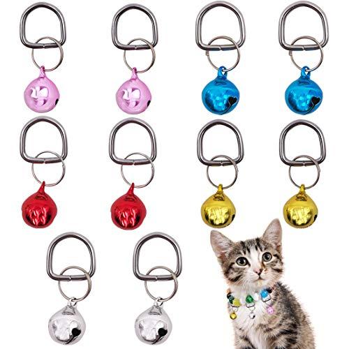 YUESEN Hund Katze Halsband Glocken Halsband Anhänger Glocken Pet Glocken 10PCS Bunten Laut Oder Weiche Haustier Anhänger Zubehör Ornament für Kleine, Mittelgroße Hunde und Katzen