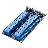 AZDelivery 16 Canales Modulo Rele 12V con Optoacoplador Low-Level-Trigger compatible con Arduino con E-Book incluido!