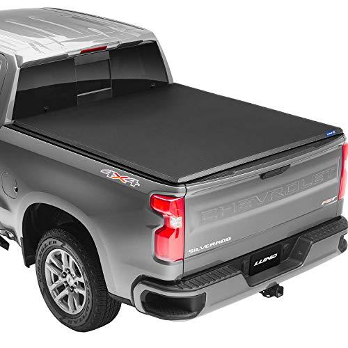 Lund Genesis Tri-Fold Soft Folding Truck Bed Tonneau Cover | 95072 | Fits 2009 -...