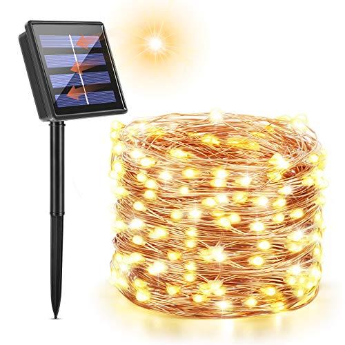 Maxsure Guirnalda Luces Exterior Solar, 26 Metros 240 LED, Guirnaldas Solares, con...