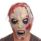 WYXMJ Máscara de Halloween miedo masculino adulto mascarada zombi de látex
